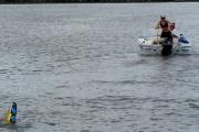 Holowanie narciarza wodnego